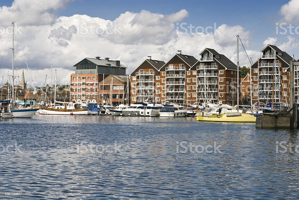 Ipswich marina royalty-free stock photo