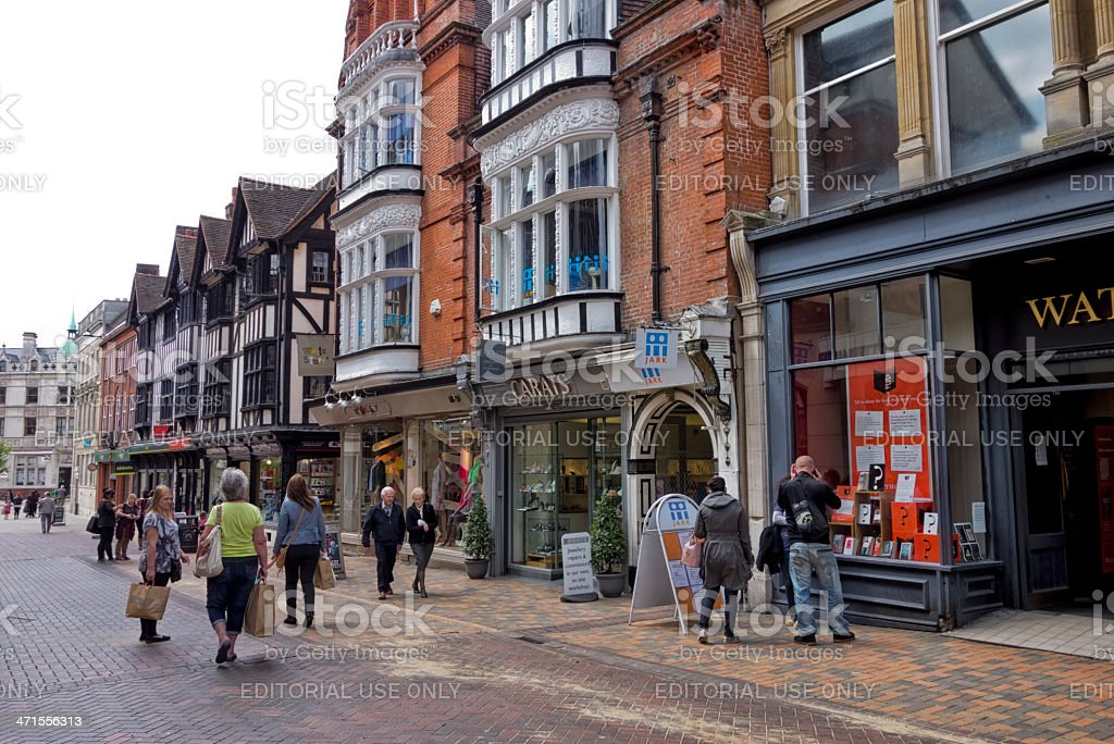 Ipswich shoppers royalty-free stock photo