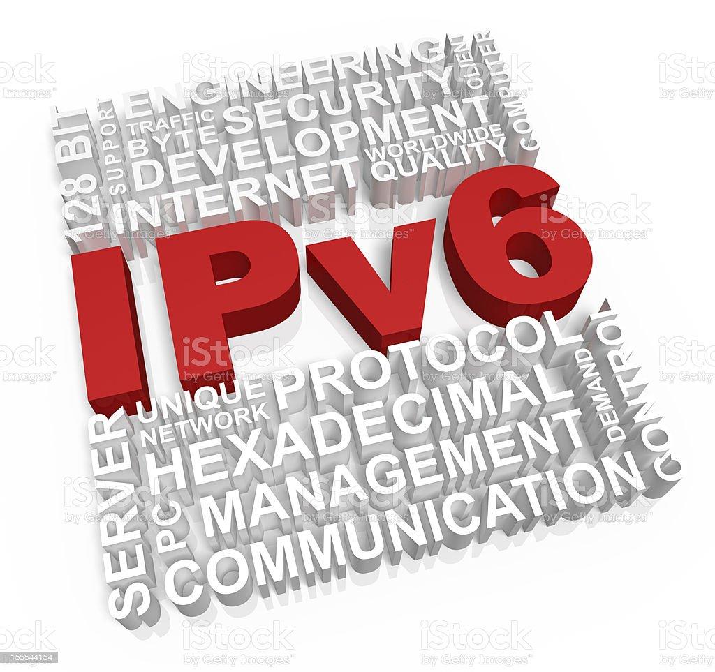 Ipv6 Concept royalty-free stock photo