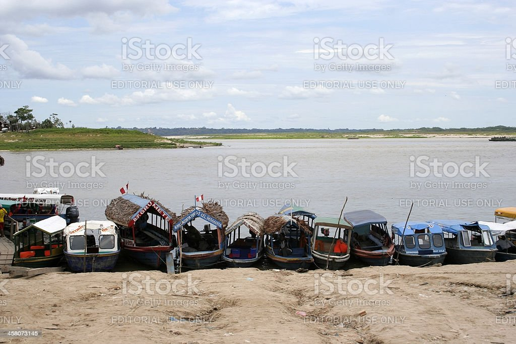 Iquitos Port, Peru, South America royalty-free stock photo
