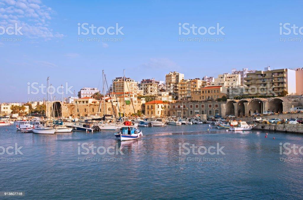 Iraklion, capital da ilha de Creta - foto de acervo