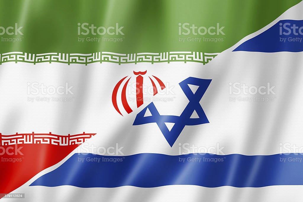Iran and Israel flag royalty-free stock photo