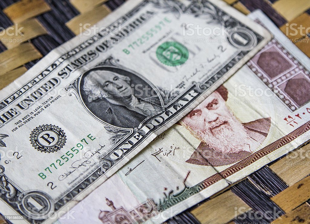 Iran and United States relations royalty-free stock photo