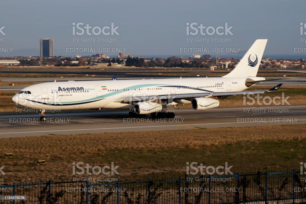 イランアーセマーン航空エアバス A340300 Epapa 旅客機が ...