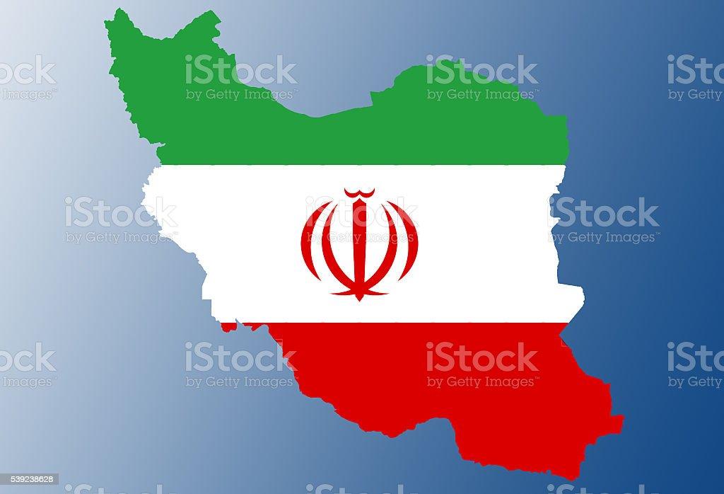 Bandera de mapa de Irán foto de stock libre de derechos