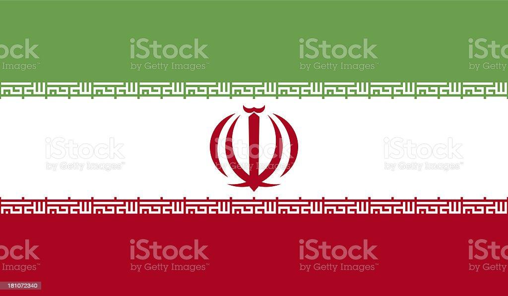 Iran Flag royalty-free stock photo