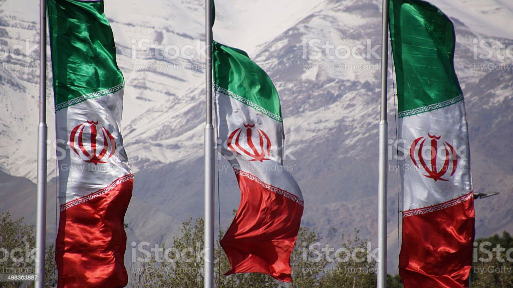 Iran Flagge stock photo