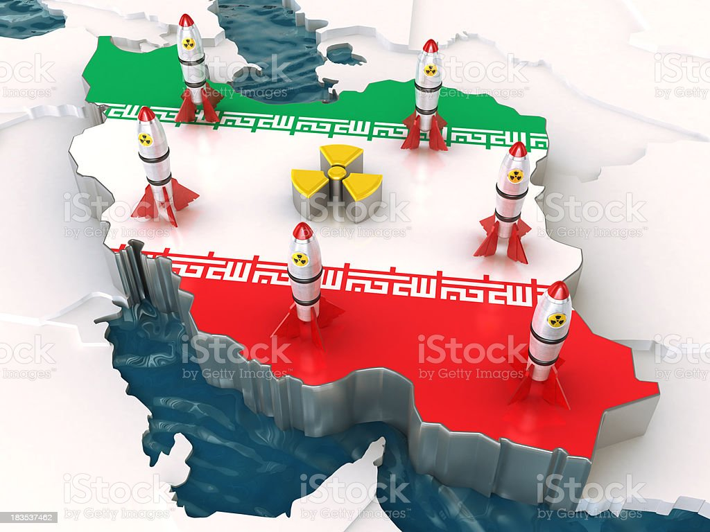 Iran: Nuclear Force royalty-free stock photo