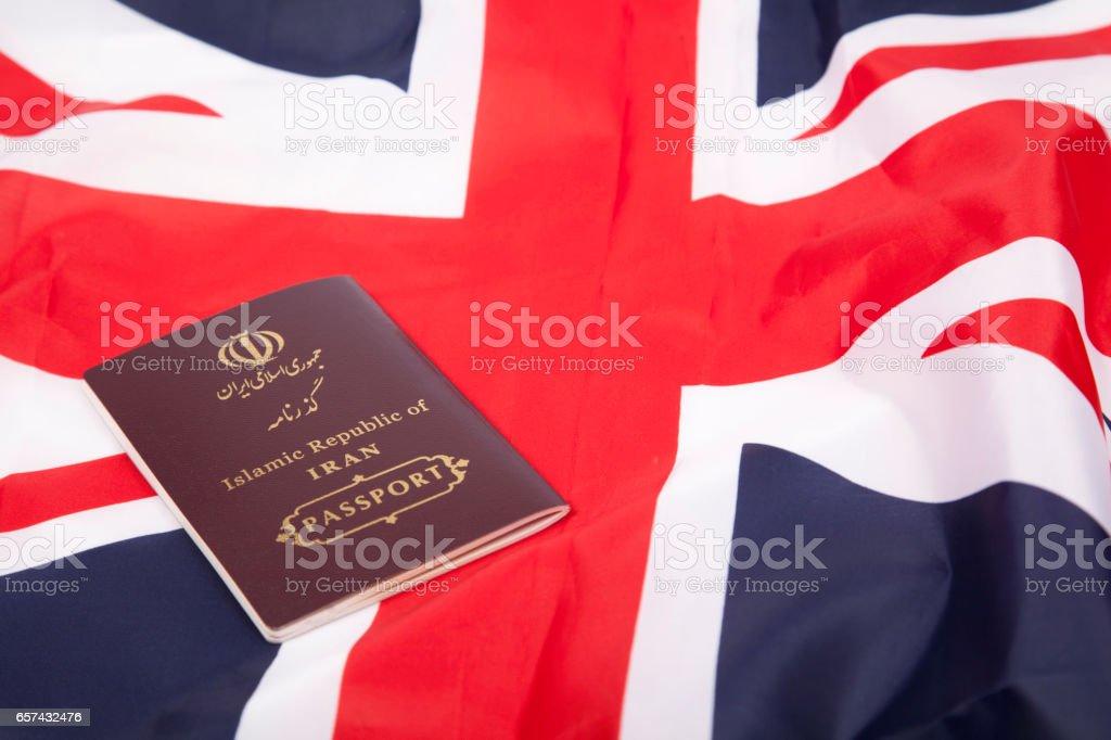 Iran passport stock photo