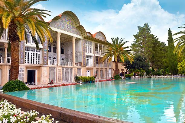 Iran Eram Garden in Shiraz - Iran. persian culture stock pictures, royalty-free photos & images