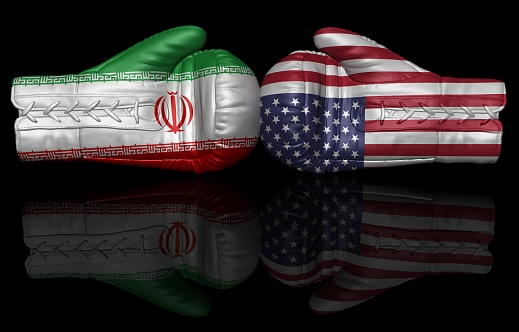 istock iran sanctions usa us trade war oil embargo tariffs currency crisis 3d boxing glove flag 1067850362
