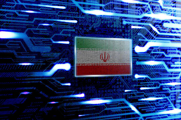 Iran, Tehran national official state flag Iran, Tehran national official state flag in a computer technological world iran stock pictures, royalty-free photos & images