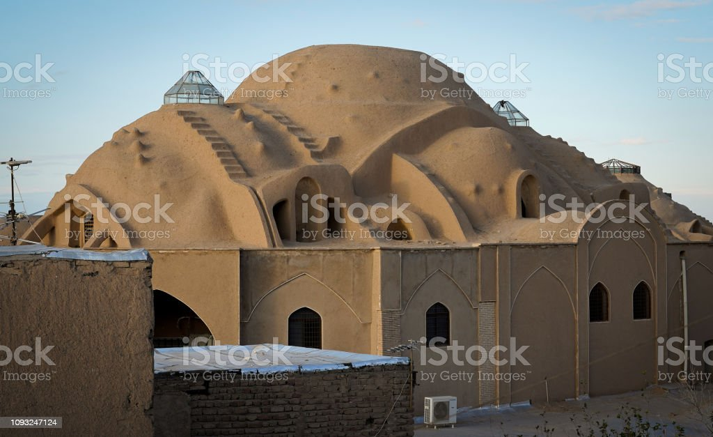 Iranian Bazaar rooftop stock photo
