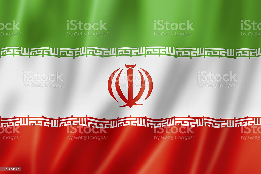 Iranian flag stock photo