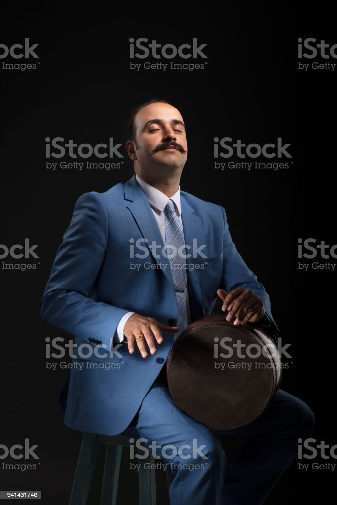 Iranian Musician stock photo