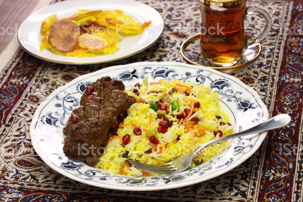 iranian persian cuisine stock photo