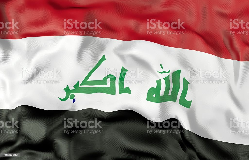 Iraq flag 3d illustration royalty-free stock photo
