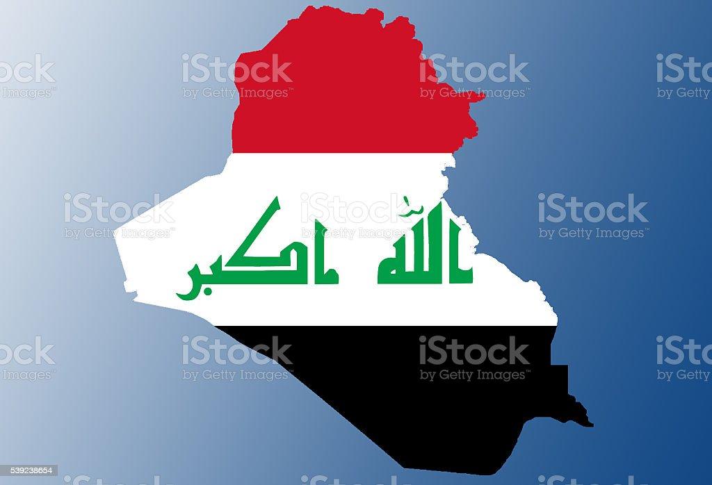 Mapa bandera iraquí foto de stock libre de derechos
