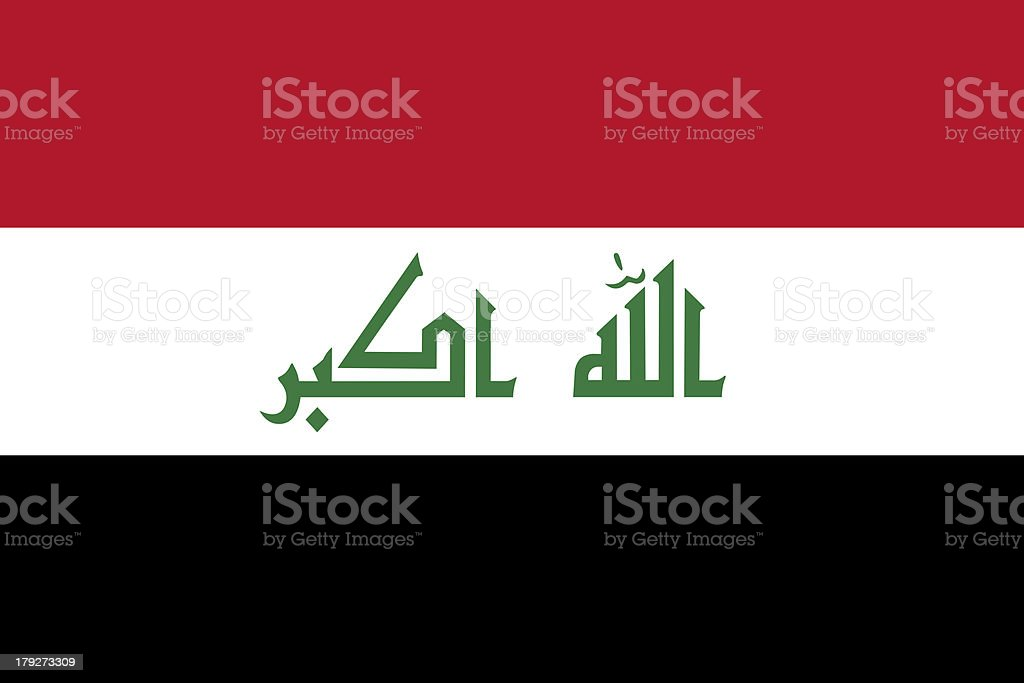 Iraq National Flag royalty-free stock photo