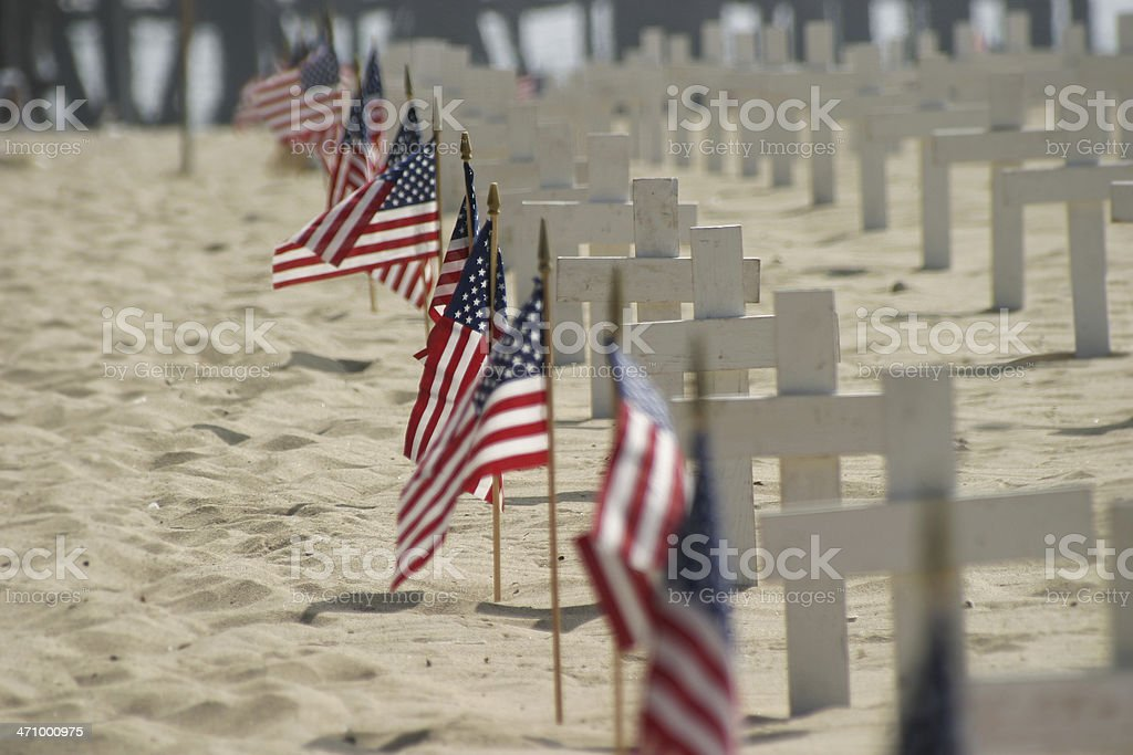 Iraq War: Crosses in the Sand royalty-free stock photo