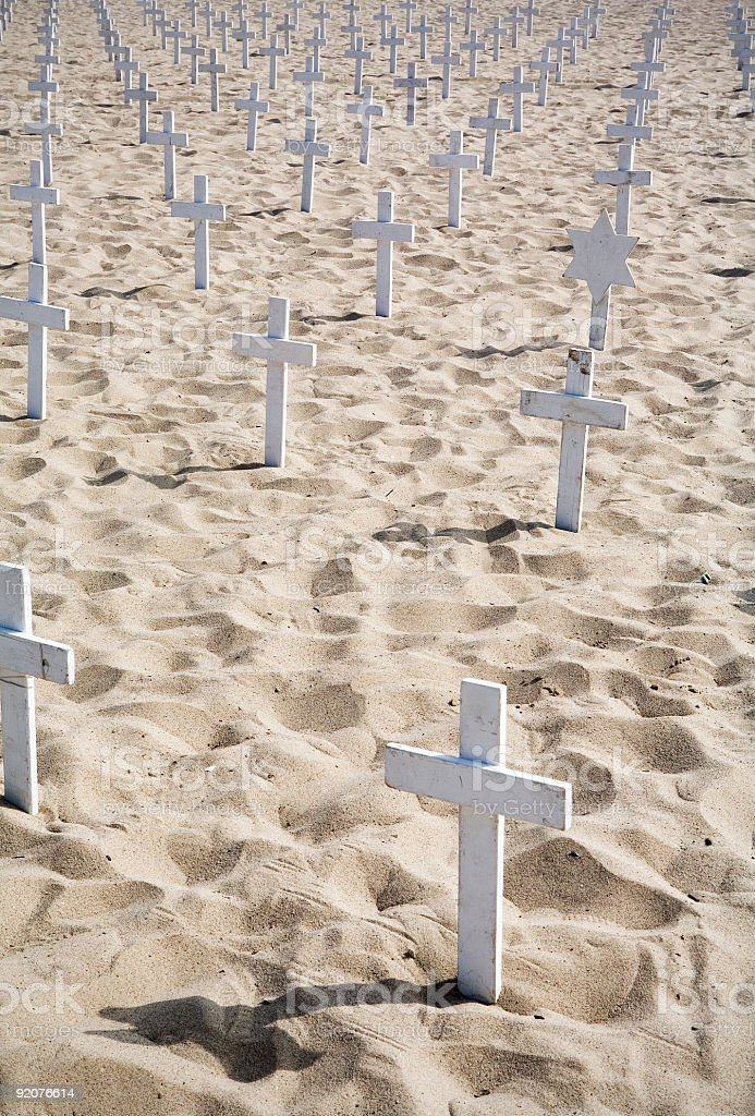 Iraq War: Graves in the Sand royalty-free stock photo