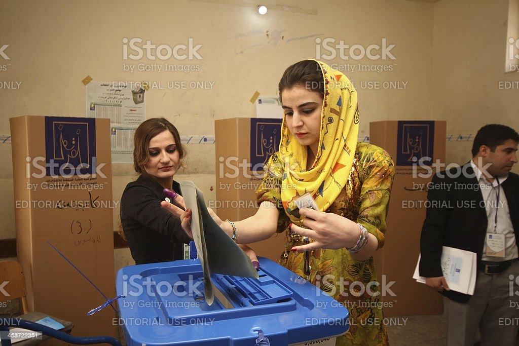 Iraquí elecciones generales - foto de stock