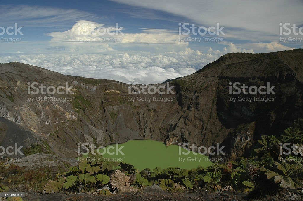 Irazu Volcano Crater in Costa Rica royalty-free stock photo