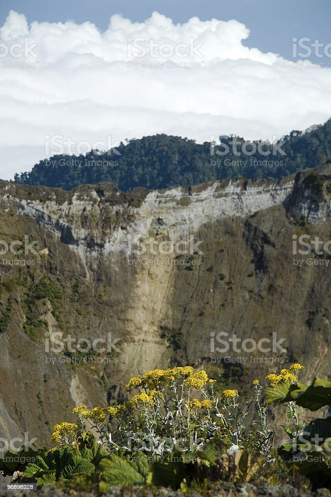 Irazu volcano crater royalty-free stock photo