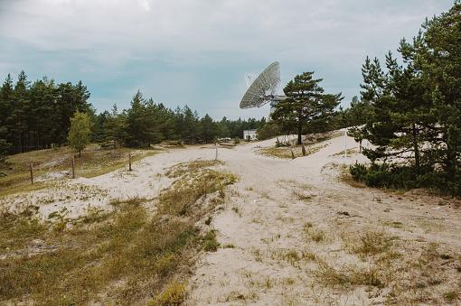 Irbene radio space telescope in Latvia