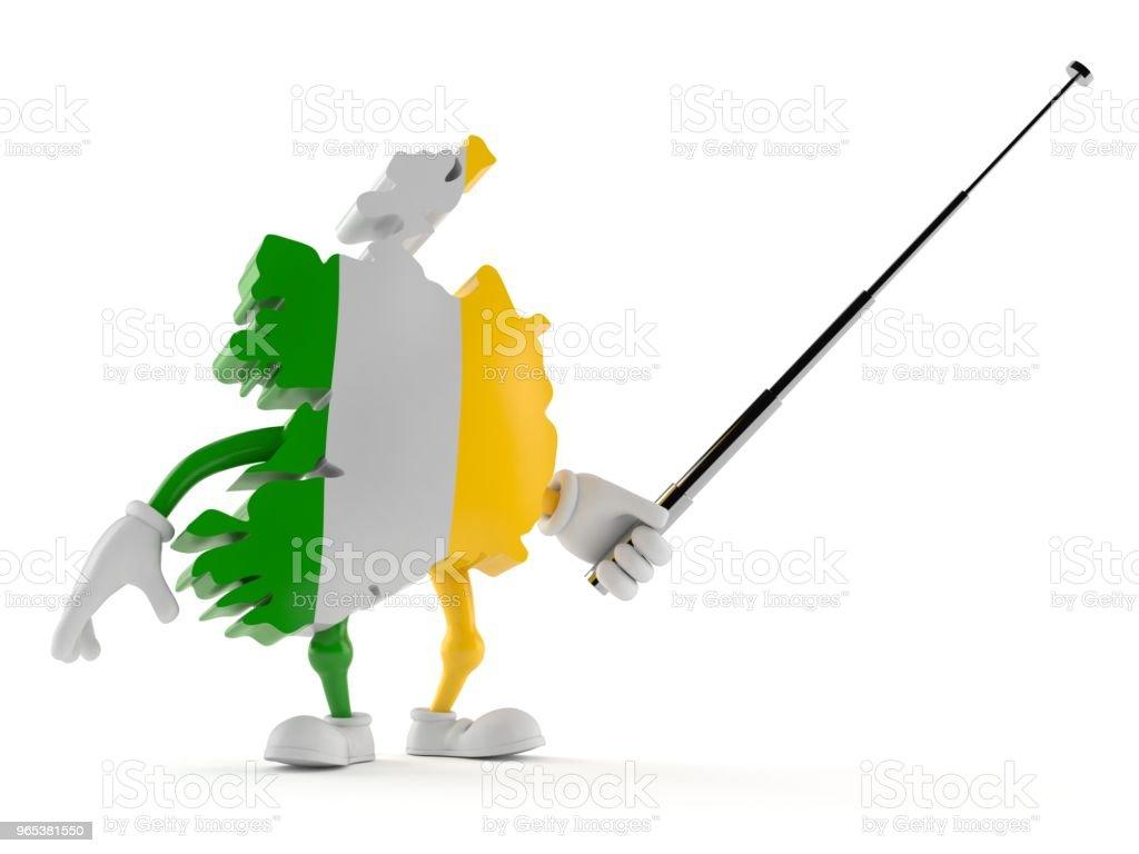 Ireland character aiming with pointer stick zbiór zdjęć royalty-free