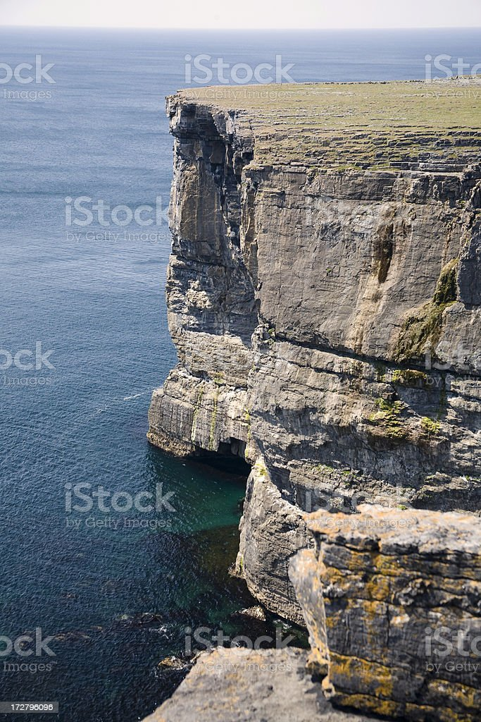 Ireland: Cliffs of Inis Mor, Aran Islands royalty-free stock photo