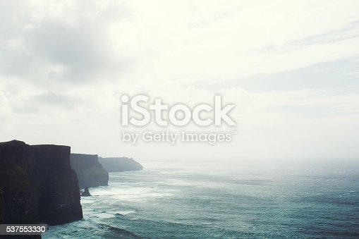Ireland, view of cliffs of Moher in the Burren