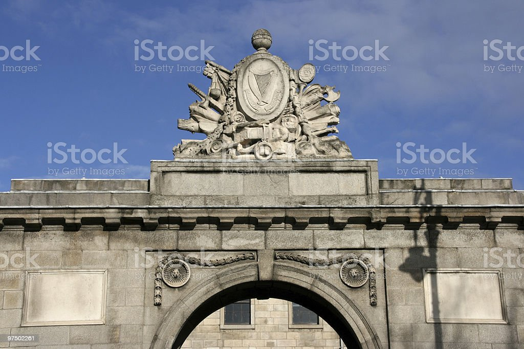 Ireland coat of arms royalty-free stock photo
