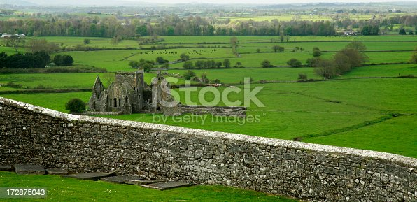 Ruins of an Abbey just down the hill from the Rock of Cashel in Tipperary county, Ireland.