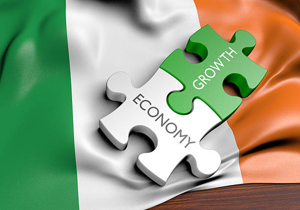 Ireland economy and financial market growth concept, 3D rendering stock photo