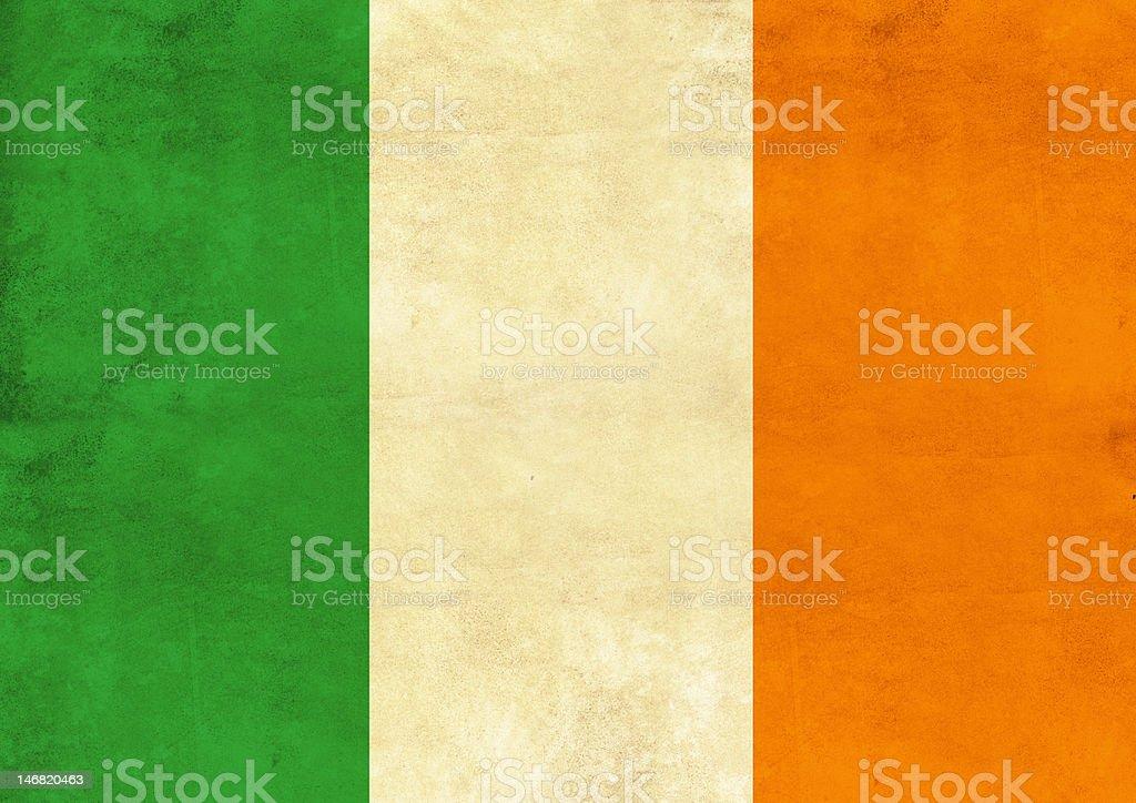 Ireland flag on vintage paper stock photo