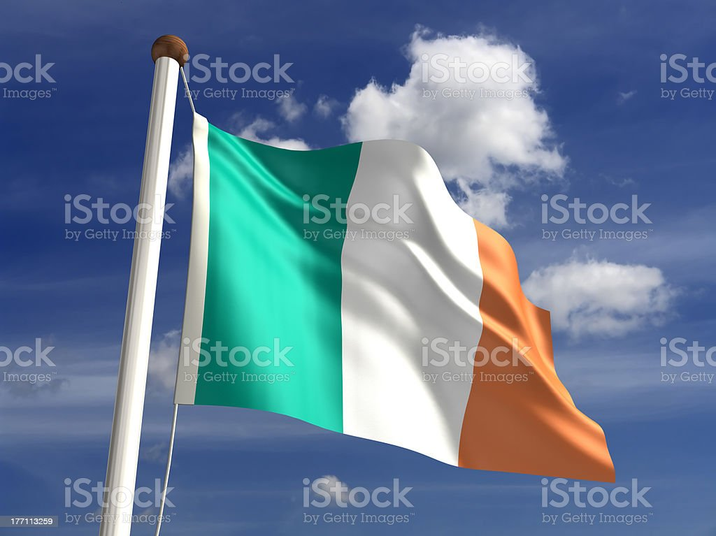 Ireland flag (with clipping path) stock photo