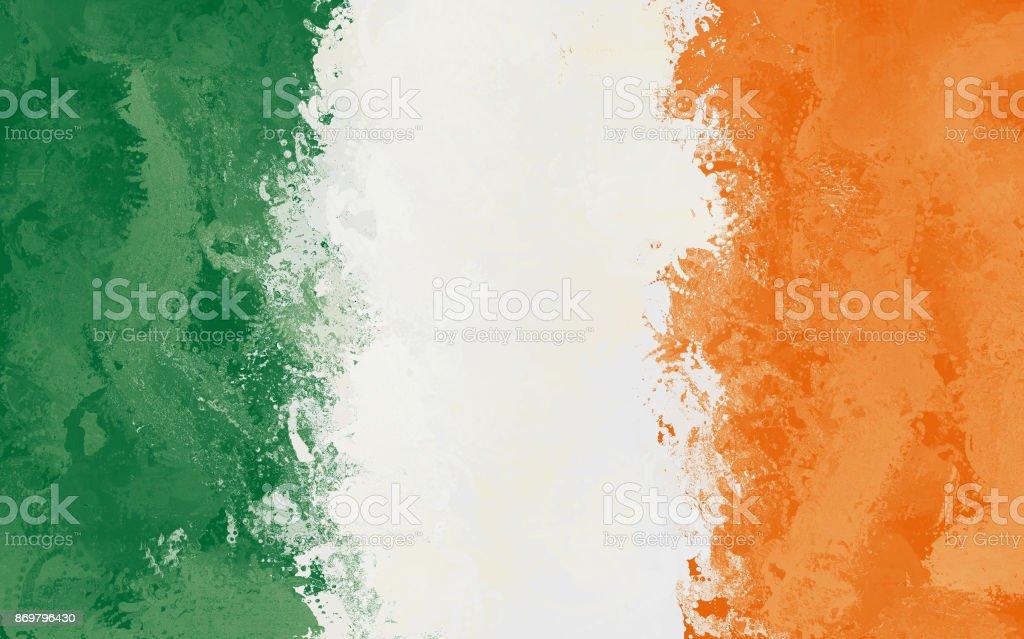 Bandera del Grunge de Irlanda - foto de stock