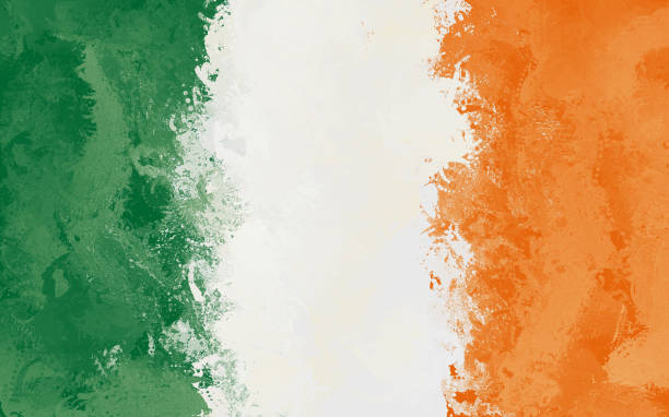 Ireland Grunge Flag stock photo