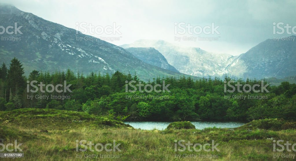 Landscape of rural Ireland.