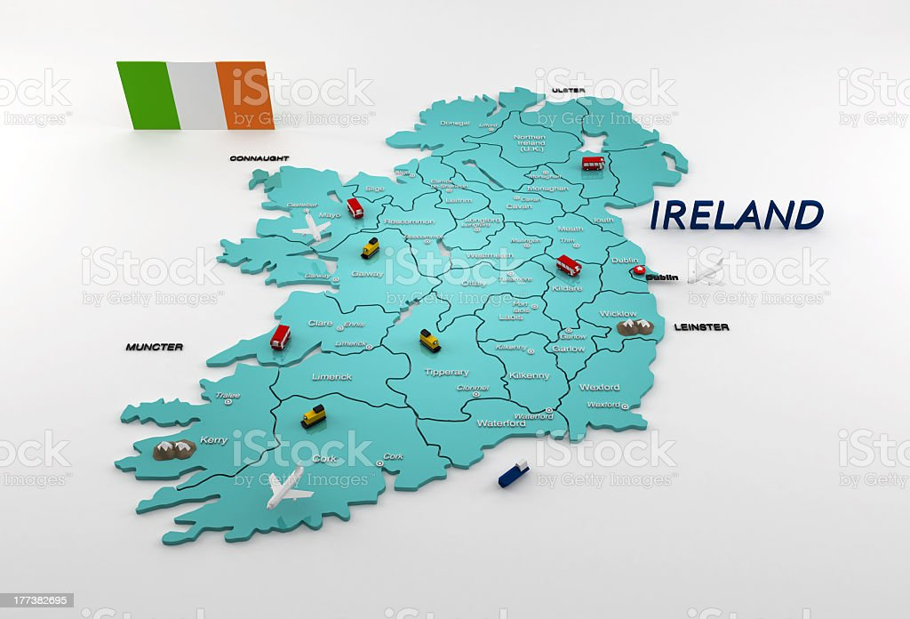 Ireland map stock photo