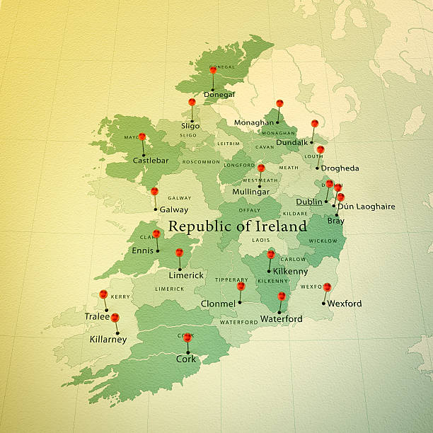 Royalty Free Ireland Map Pictures Images And Stock Photos Istock