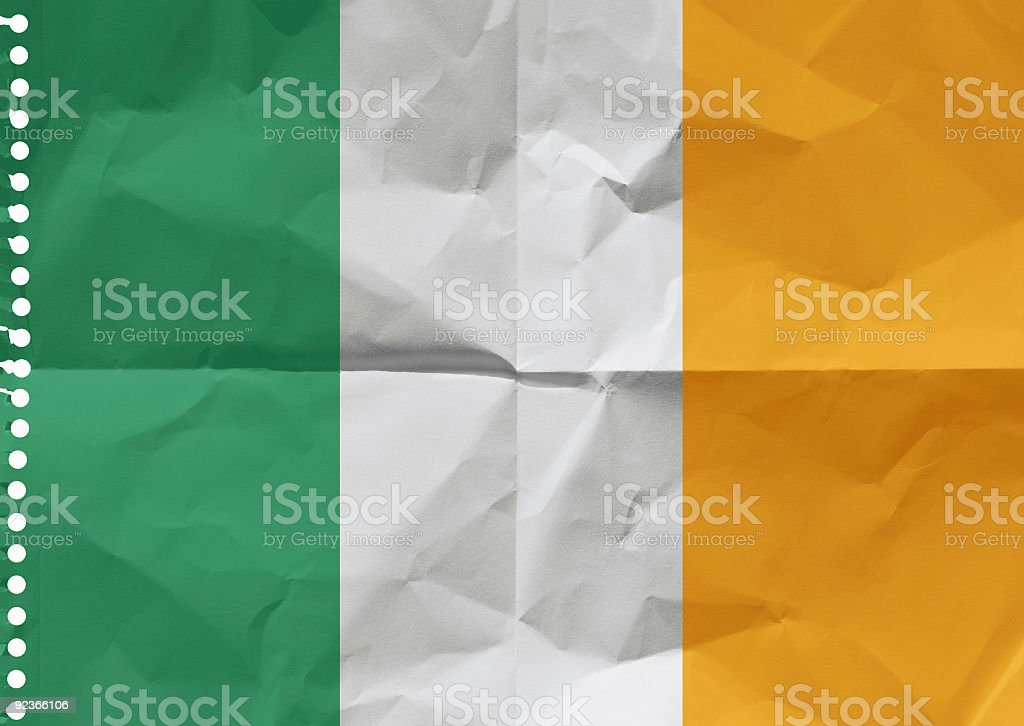 Ireland on a piece of paper. royalty-free stock photo