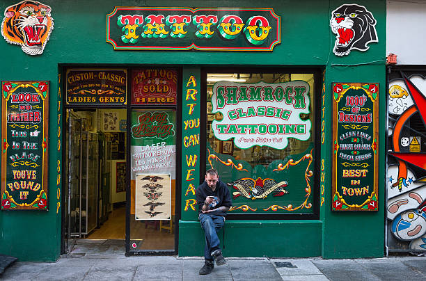 Tattoo Stock Photos: Best Tattoo Storefront Stock Photos, Pictures & Royalty