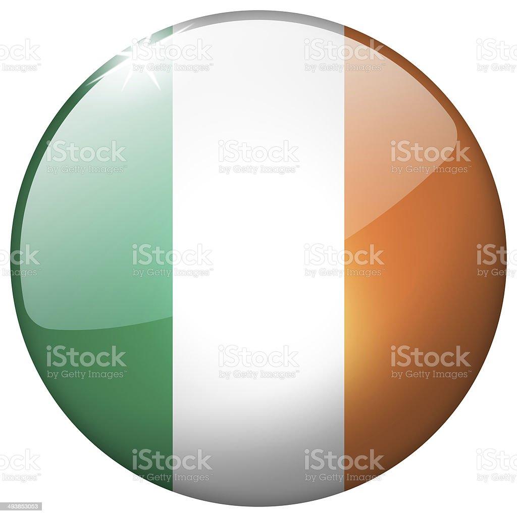 Ireland Round Glass Button stock photo
