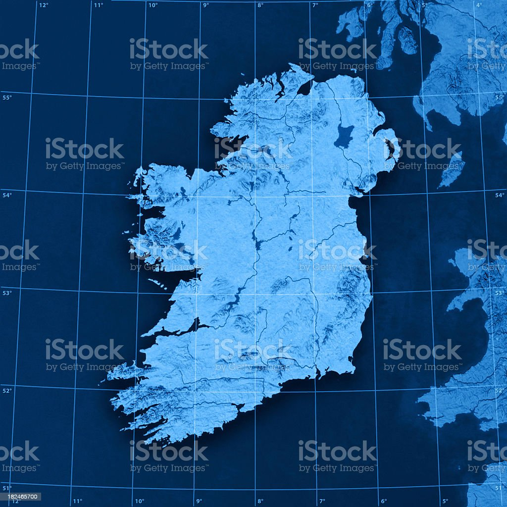 Ireland Topographic Map royalty-free stock photo