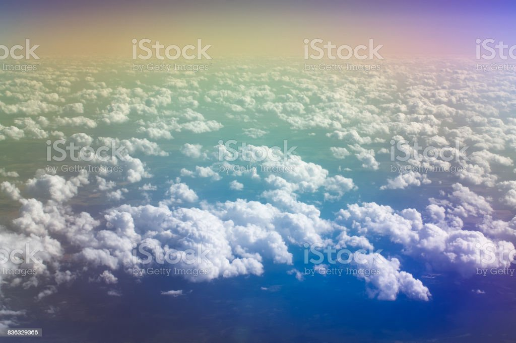 Iridescent clouds stock photo