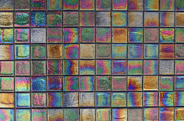 Iridescent Tile stock photo