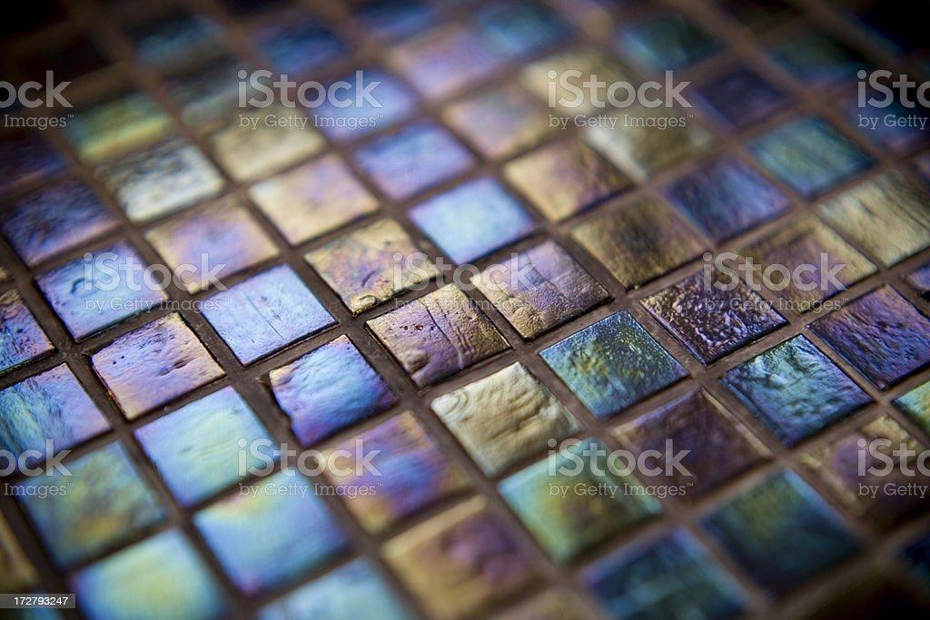 iridescent tile purple blue green royalty-free stock photo
