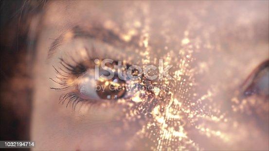 istock Iris recognition, virtual reality concept 1032194714